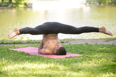 Supported Shoulderstand variation Royalty Free Stock Photos