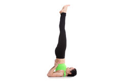 Supported Shoulderstand yoga asana Stock Image