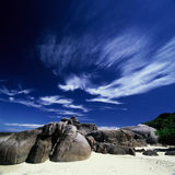 Supporter of the clouds. Sea Similan Phang Nga Tha Stock Photo