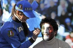supporter för 6 italiensk nationrbs Royaltyfria Foton