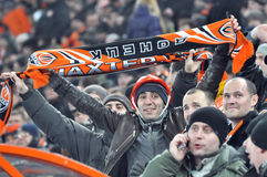 Supporter holds a scarf Royalty Free Stock Images