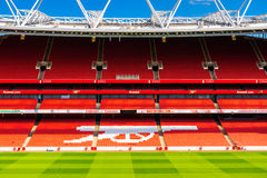 Supporter seating at The Emirates Stadium Royalty Free Stock Images