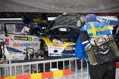 Supporter - Shakedown rally Sweden 2011 Stock Photos