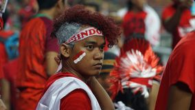 Supporter. Indonesia soccer Stock Photography