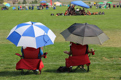 Supporters au jeu de football Photo libre de droits