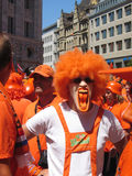 Supporters of the Dutch National Football Team. Stuttgart, Germany - June 16, 2006 Supporters of the National Soccer Team of the Netherlands, dressed in orange Royalty Free Stock Image