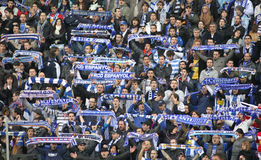 Supporters of Espanyol Royalty Free Stock Photography