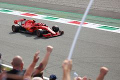 Kimi Raikkonen in Monza F1 Grand Prix 2018 stock images