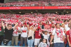 Supporters of Poland. Royalty Free Stock Image