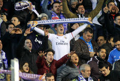 Supporters of Real Madrid Stock Photos