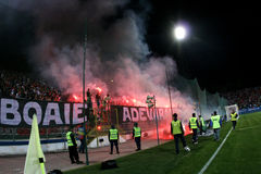 Supporters at Steaua - Dinamo match Stock Image