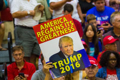 Supporters at Trump Campaign Rally Stock Photography