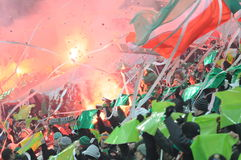 Supportes of Slask Wroclaw Stock Images