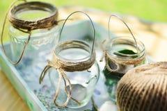 Supporti di candela decorativi Fotografia Stock