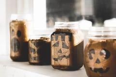 Supporti di candela di Halloween Fotografia Stock