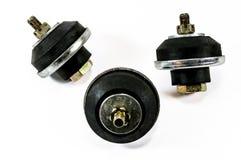 Supporti di gomma automobilistici antichi del motore Immagine Stock