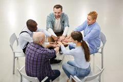 Supporti Group Joining Hands royalty free stock photos