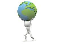 Supporti il mondo illustrazione vettoriale