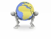 Supporti il mondo royalty illustrazione gratis