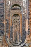 Supporting Brick Piers of Railway Viaduct Royalty Free Stock Photo