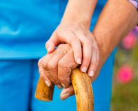 Supporting the Elderly royalty free stock photos