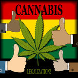 Supporting the legalization of cannabis Royalty Free Stock Photos