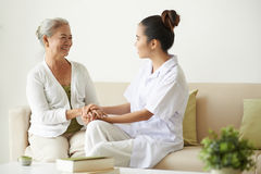 Supporting patient Royalty Free Stock Images
