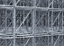Supporting Scaffold Construction. Of steel pipes stock image