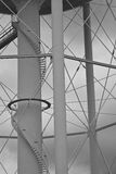 Supporting structure beneath water tower Royalty Free Stock Photo