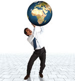 Supporting the world Royalty Free Stock Images