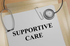 Supportive Care - medical concept Royalty Free Stock Photos