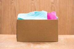 Supportive housing or food donation in box for poor.  Stock Images