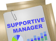 Supportive Manager - business concept Royalty Free Stock Image
