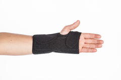 Supportive orthopedic wrist. On white background Stock Photo