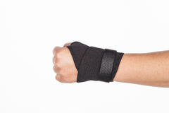 Supportive orthopedic wrist Stock Image