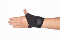 Supportive orthopedic wrist. On white background Royalty Free Stock Image