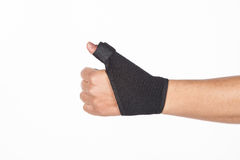 Supportive orthopedic wrist. On white background Stock Photos