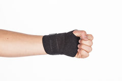 Supportive orthopedic wrist. On white background Stock Images