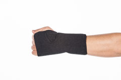 Supportive orthopedic wrist. On white background Royalty Free Stock Images