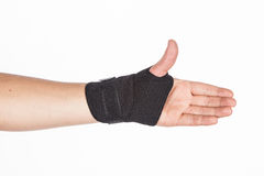 Supportive orthopedic wrist. On white background Stock Image