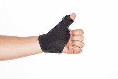 Supportive orthopedic wrist. On white background Royalty Free Stock Photos