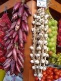 Supporto agricolo delle verdure al mercato Fotografia Stock Libera da Diritti