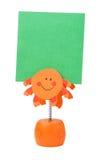 Supporto arancione del post-it Fotografia Stock Libera da Diritti