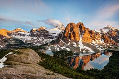 Supporto Assiniboine Canada di Banff Fotografia Stock