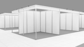 Supporto in bianco del sistema della cabina di mostra di commercio di bianco Modello immagine stock