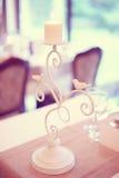 Supporto bianco della candela Immagine Stock