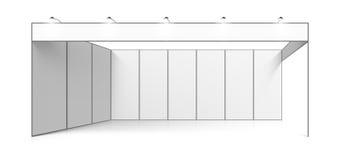 Supporto in bianco di mostra di commercio di bianco Fotografia Stock
