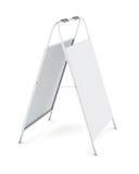 Supporto bianco di pubblicità isolato su fondo bianco renderi 3D illustrazione di stock