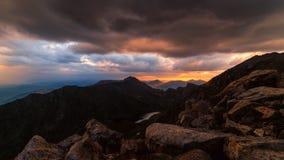 Supporto Bierstadt al tramonto Fotografia Stock Libera da Diritti