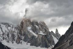 Supporto Cerro Torre, Patagonia, Argentina Fotografia Stock